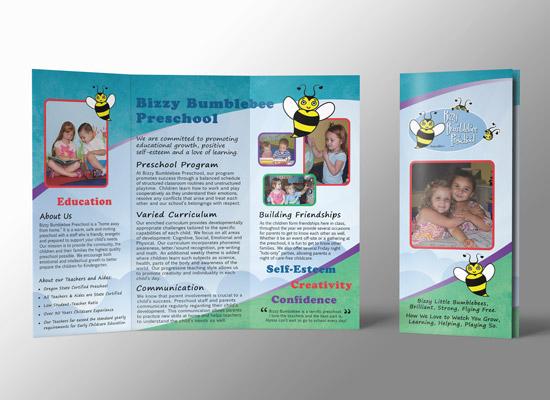 Bumblebee Preschool Tri-Fold Brochure