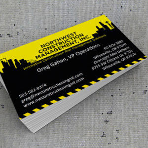 NW Constuction Business Cards