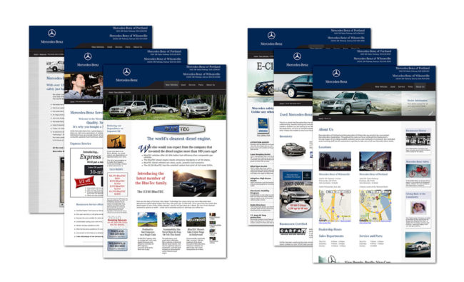 Rasmussen Mercedes-Benz Web Pages